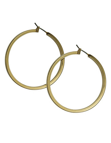 Guess Hoop Earrings-GOLD-One Size