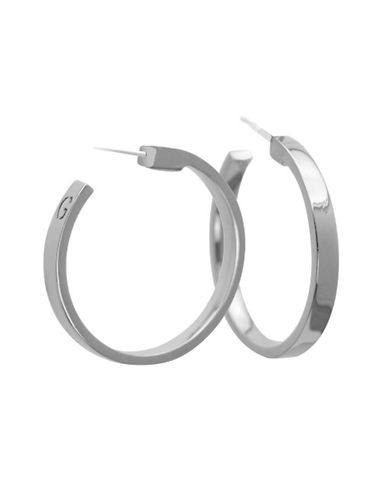 Guess Hoop Earrings-SILVER-One Size