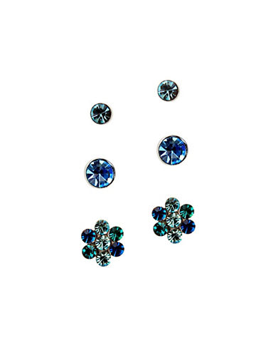 Guess Capri Blue Glass Earring Set-BLUE-One Size