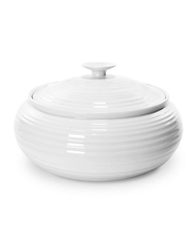 Sophie Conran For Portmeirion Low Casserole with Flat Bottom 8.5 Inch-WHITE-One Size