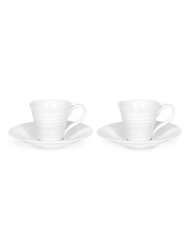 Sophie Conran For Portmeirion Espresso Cup And Saucer Set Of 2-WHITE-One Size