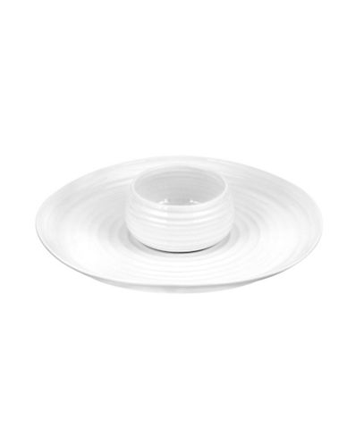 Sophie Conran For Portmeirion Dipping Dish With Platter-WHITE-One Size