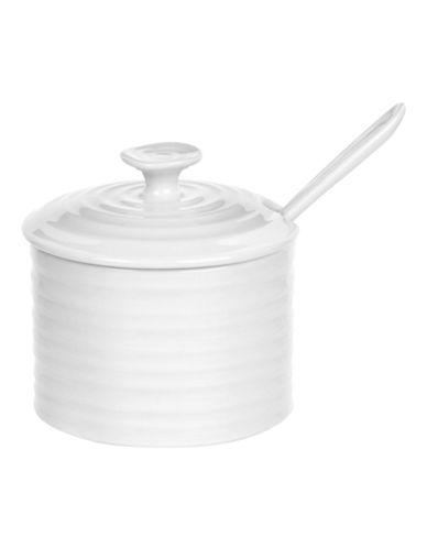 Sophie Conran For Portmeirion Condiment Pot with Spoon-WHITE-One Size