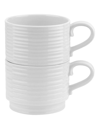 Sophie Conran For Portmeirion Set of Two Stacking Mugs-WHITE-One Size