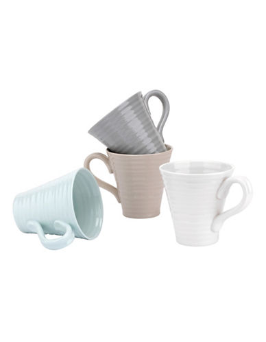 Sophie Conran For Portmeirion Set of Four Assorted Porcelain Mugs-ASSORTED-One Size