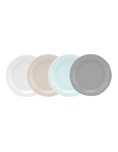 Sophie Conran For Portmeirion Set of Four Assorted Porcelain Appetizer Plates-ASSORTED-One Size
