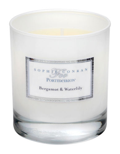 Sophie Conran For Portmeirion Bergamont and Waterlily Wax Filled Candle-WHITE-One Size