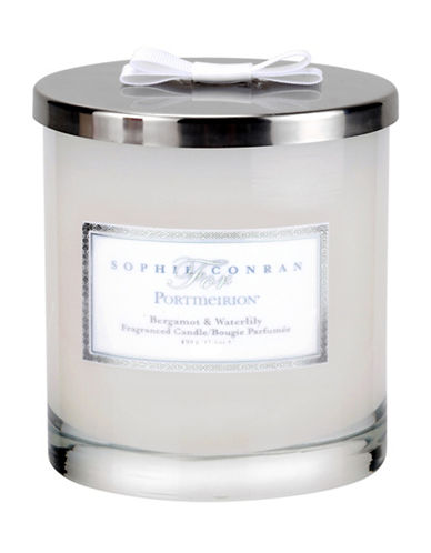 Sophie Conran For Portmeirion Bergamont and Waterlily Double Wick Candle Jar-WHITE-One Size