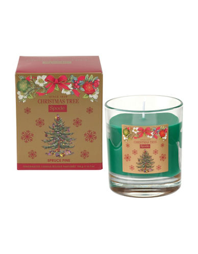 Spode Pine Tree Glass Candle-MULTI-One Size