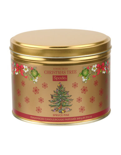 Spode Pine Tree Three-Wick Tin-MULTI-One Size