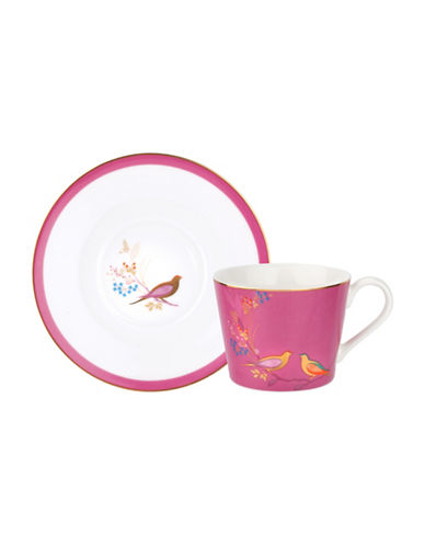 Portmeirion Chelsea Porcelain Tea Cup and Saucer-PINK-One Size