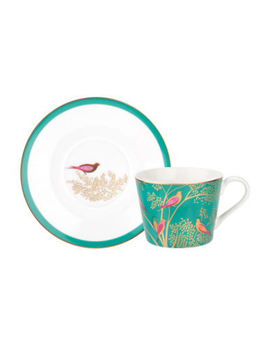 Portmeirion Chelsea Porcelain Tea Cup and Saucer-GREEN-One Size