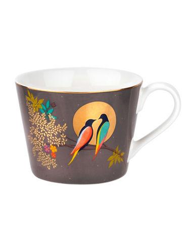 Portmeirion Chelsea Porcelain Coffee Mug-DARK GREY-One Size