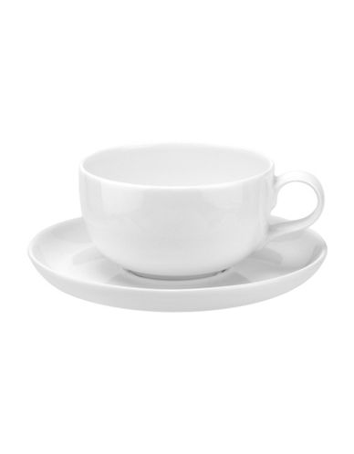 Sophie Conran For Portmeirion Two-Piece Choices Tea Cup and Saucer Set-WHITE-One Size