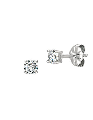Crislu 0.50 ct. t.w. Brilliant Cut Cubic Zirconia Stud Earring-SILVER-One Size