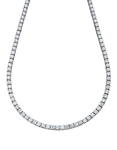 Crislu Classic Tennis Necklace With Brilliant Cubic Zirconia-SILVER-One Size