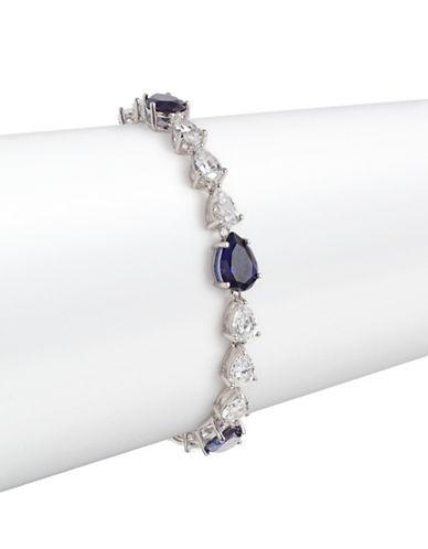 Crislu Sapphire and Cubic Zirconia Pear Bracelet-SAPPHIRE-One Size