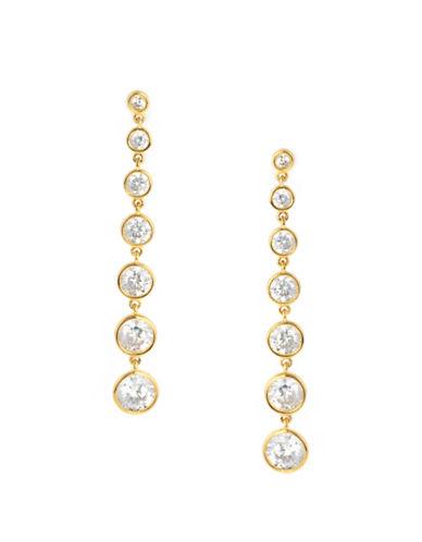 Crislu 18KT Goldplated Sterling Silver Drop Earrings-GOLD-One Size