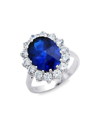 Crislu Sapphire and Sterling Silver Ring-SILVER-7