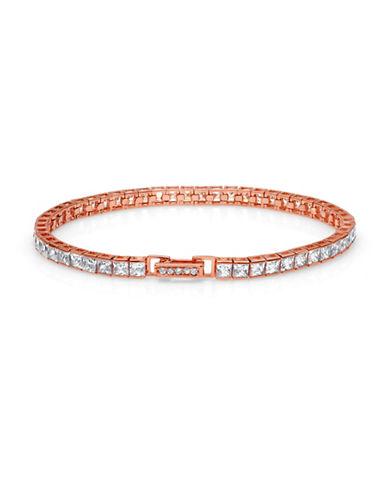 Crislu Classic Core Medium Brilliant 18K Rosegold Tennis Bracelet-ROSE GOLD-One Size