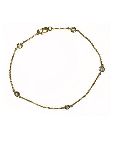 Crislu Bezel Bracelet-GOLD-One Size