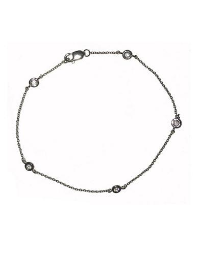 Crislu Bezel Station Bracelet-SILVER-One Size