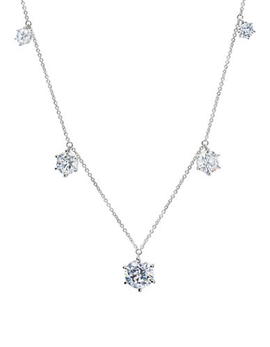 Crislu Forever Sterling Silver Platinum Necklace-SILVER-One Size