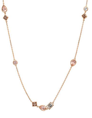 Crislu Blush 18K Rose Goldplated Sterling Silver Necklace-ROSE GOLD-One Size
