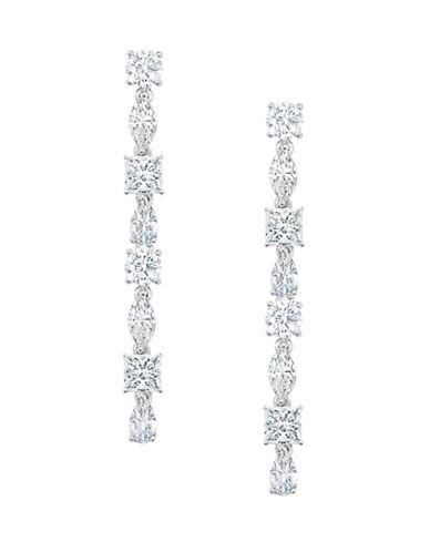 Crislu Sterling Silver Linear Earrings-SILVER-One Size