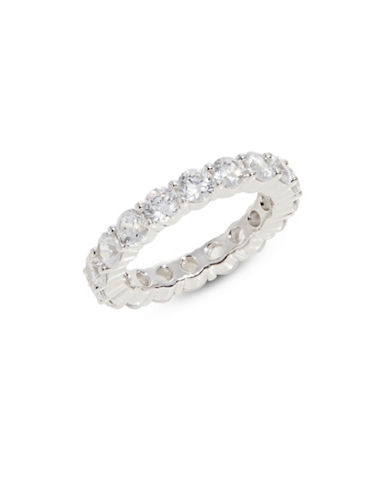 Crislu Sterling Silver Eternity Band Ring-SILVER-8