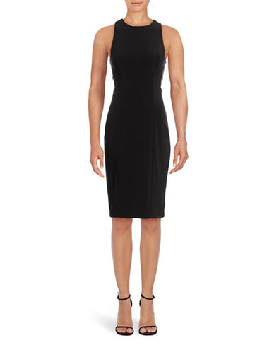 Betsy & Adam Sleeveless Cut-Out Sheath Dress-BLACK-12