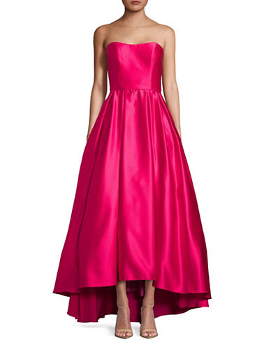 Betsy & Adam Strapless Satin Gown-PINK-2