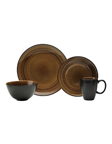 Oneida 16 Piece Adriatic Brown Dinnerware Set-BROWN-One Size