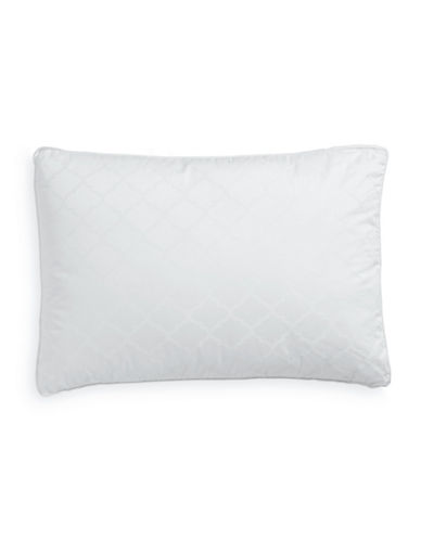 Martha Stewart 350 Thread-Count Luxury Down-Alternative Firm Gusset Pillow-WHITE-King