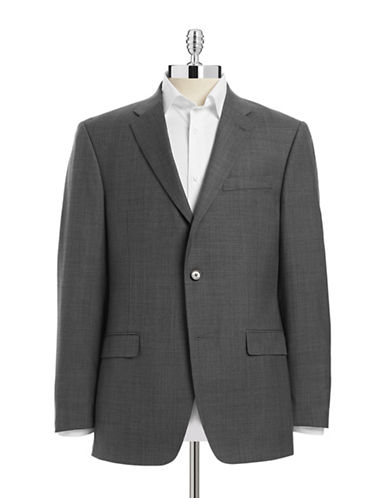 Tommy Hilfiger Tailored Trim-Fit Suit Jacket-GREY-40 Regular