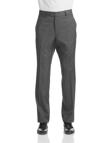 Tommy Hilfiger Worsted Wool Suit Pants-GREY-42X32