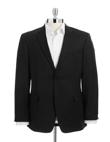Tommy Hilfiger Modern Fit Suit Separate Jacket-BLACK-38 Short