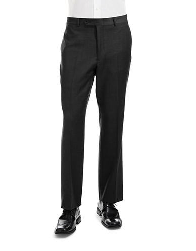 Tommy Hilfiger Modern Fit Suit Separate Pants-BLACK-40X32
