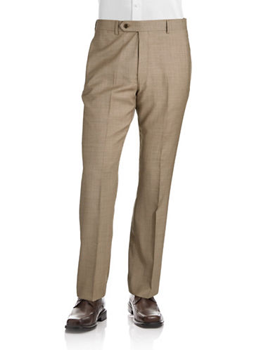 Tommy Hilfiger Modern Fit Suit Separate Pants-TAN-30X30