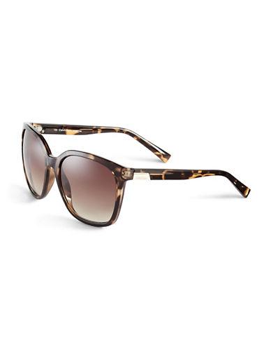 Calvin Klein 59mm R700S Square Sunglasses-TORTOISE-One Size