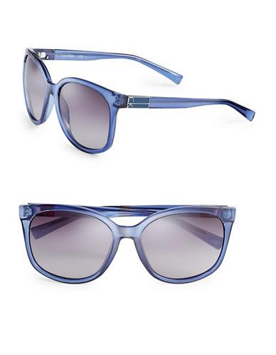 Calvin Klein 57mm Oversized Wayfarer Sunglasses-NAVY-One Size