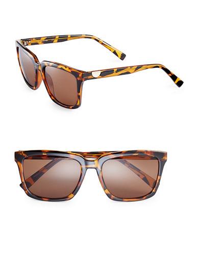 Calvin Klein 55mm Flat Top Wayfarer Sunglasses-TORTOISE-One Size