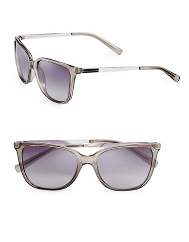 Calvin Klein 54mm Slim Frame Wayfarer Sunglasses-CHARCOAL-One Size