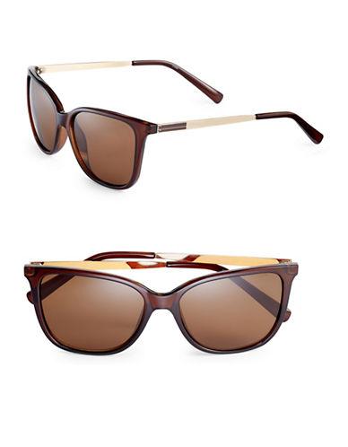 Calvin Klein 54mm Slim Frame Wayfarer Sunglasses-CRYSTAL BLACK-One Size