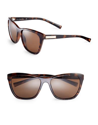 Calvin Klein 58mm Wayfarer Sunglasses-TORTOISE-One Size