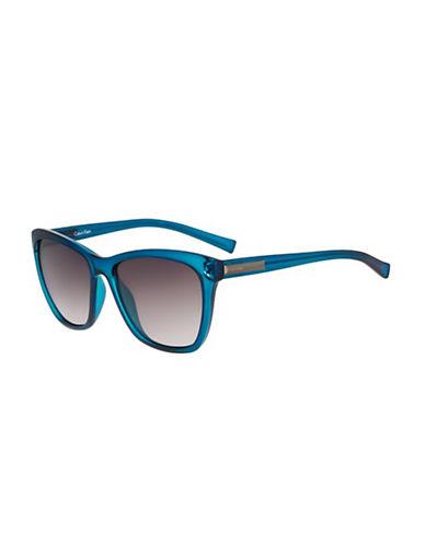 Calvin Klein 58mm Wayfarer Sunglasses-CRYSTAL AQUA-One Size