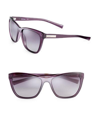Calvin Klein 58mm Wayfarer Sunglasses-PURPLE-One Size