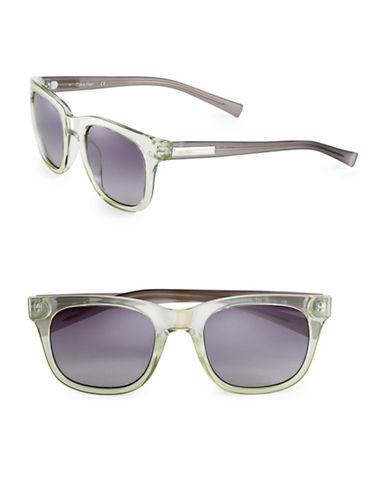 Calvin Klein 50mm Celadon Wayfarer Sunglasses-CELADON-One Size