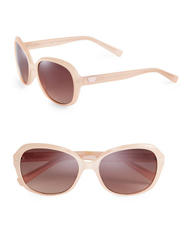 Calvin Klein 55mm Round Sunglasses-NUDE-One Size