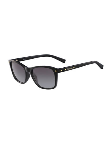 Calvin Klein White Label Square 54 mm Sunglasses-BLACK-One Size